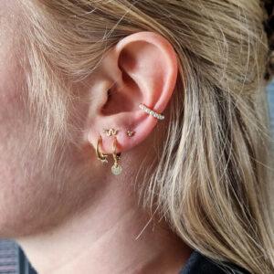 oorbel-goud-mini-ster-earcuff