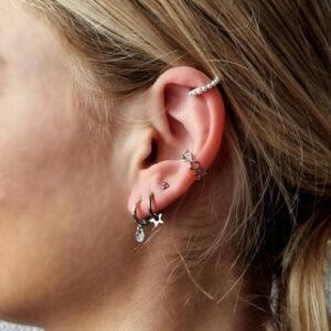 oorbel-zilver-ster-earcuffs-dots