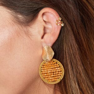 earcuff-goud-stone
