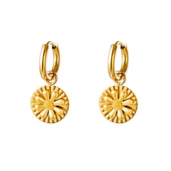 oorbel-goud-bedel-bloem