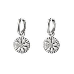 oorbel-zilver-bedel-bloem