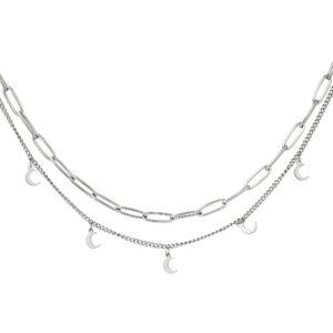 ketting-zilver-dubbel-maan