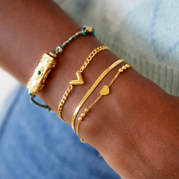 armband-goud-zilver-minimalistisch-hart