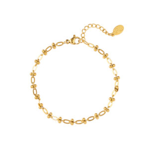 armband-goud-dotted