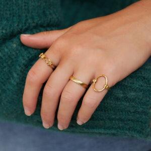 ring-goud-onesize-structuur